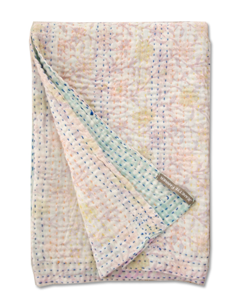 Jeanette Farrier  Baby Vintage Kantha ジャネット ファリア・ベビーブランケット ヴィンテージ カンタ キルト・010