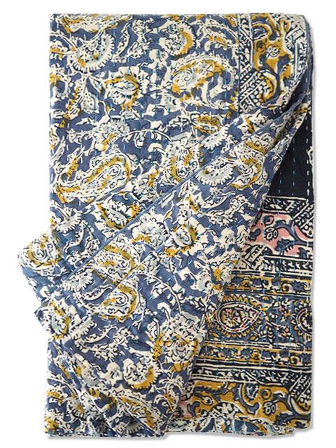 ジャネット ファリア ヴィンテージカンタ ラリーキルト ストール ショール Jeanette Farrier Vintage Kantha Shawl・Type.A