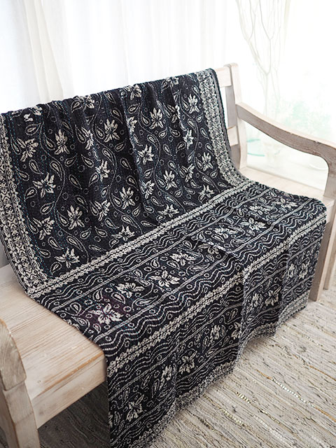 『SALE セール40%OFF』ジャネット ファリア ヴィンテージカンタ ラリーキルト シングルスロー Jeanette Farrier Vintage Kantha Single Throw・Type.E