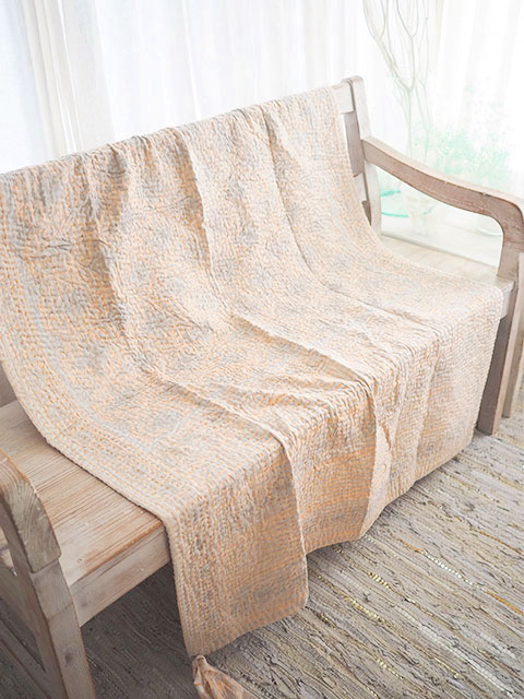 『SALE セール30%OFF』ジャネット ファリア ヴィンテージカンタ ラリーキルト シングルスロー Jeanette Farrier Vintage Kantha Single Throw・Type.F