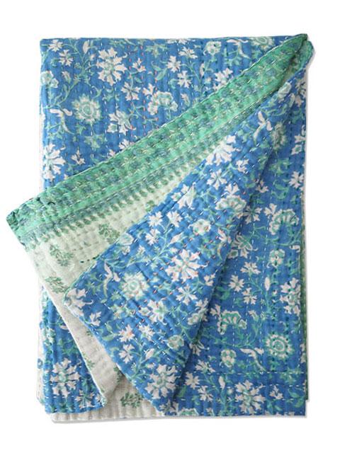 ジャネット ファリア ヴィンテージカンタ ラリーキルト ベビーブランケット Jeanette Farrier Vintage Kantha Baby Blanket・Type.03