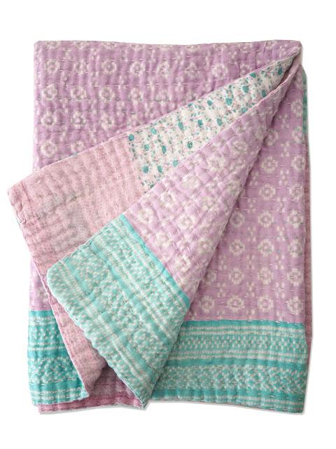 ジャネット ファリア ヴィンテージカンタ ラリーキルト ベビーブランケット Jeanette Farrier Vintage Kantha Baby Blanket・Type.11