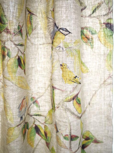 メゾン レヴィ Maison Levy リネンカーテン マルチクロス Curtain Linen・CIME(W143xH200cm・1枚)