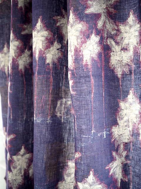 メゾン レヴィ Maison Levy リネンカーテン マルチクロス Curtain Linen・INDIGO(W143xH200cm・1枚)