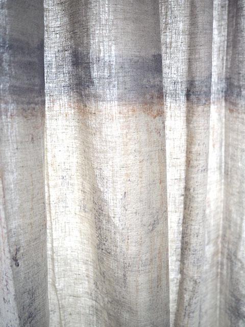 『カーテンフェア セール10%OFF』『SALE セール30%OFF』(お値引き合計40%OFF)メゾン レヴィ Maison Levy リネンカーテン マルチクロス Curtain Linen・LA CAIDA(W143xH200cm・1枚)