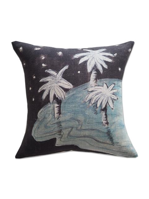 メゾン レヴィ Maison Levy リネンクッションカバー Cushion Cover Linen・DARK PALM(W34xH34cm・カバーのみ)