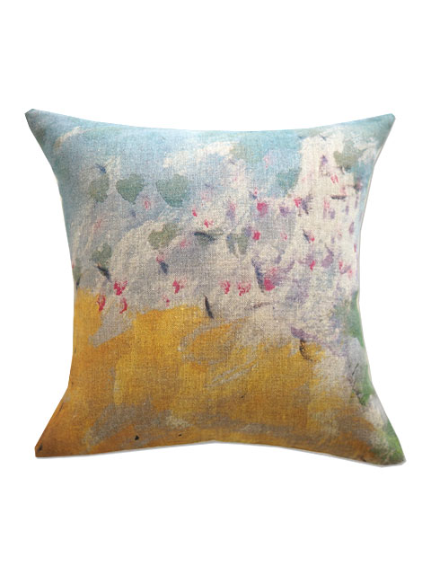 『SALE セール50%OFF』メゾン レヴィ Maison Levy リネンクッションカバー Cushion Cover Linen・PETALES(W34xH34cm・カバーのみ)