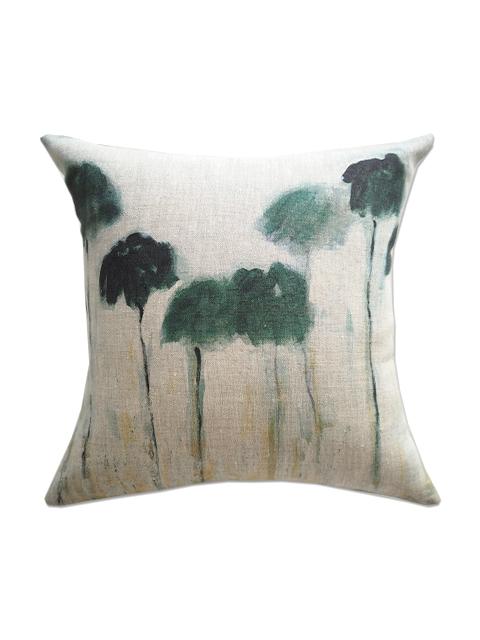『SALE セール50%OFF』メゾン レヴィ Maison Levy リネンクッションカバー Cushion Cover Linen・REFLEJOS PALMIERS(W34xH34cm・カバーのみ)