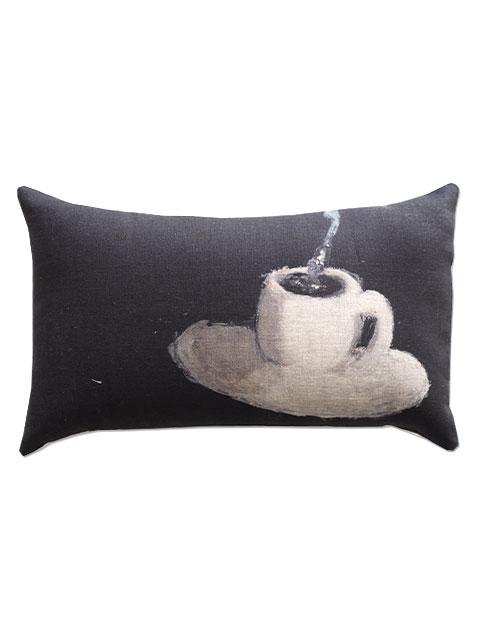 『SALE セール50%OFF』メゾン レヴィ Maison Levy リネンクッションカバー Cushion Cover Linen・CAFE  CREME(W50xH30cm・カバーのみ)