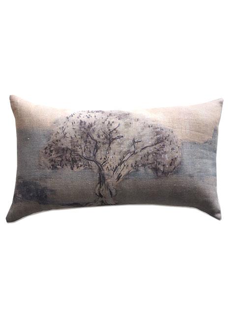 『SALE セール50%OFF』メゾン レヴィ Maison Levy リネンクッションカバー Cushion Cover Linen・EL OLIVO(W50xH30cm・カバーのみ)