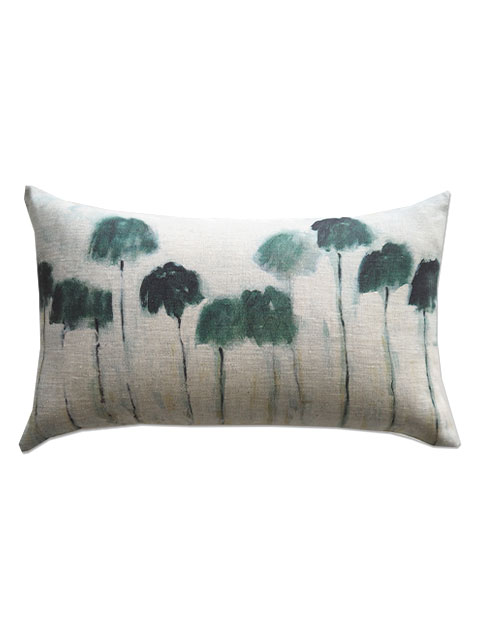 『SALE セール50%OFF』メゾン レヴィ Maison Levy リネンクッションカバー Cushion Cover Linen・REFLEJOS PALMIERS(W50xH30cm・カバーのみ)