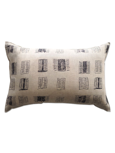 『SALE セール40%OFF』メゾン レヴィ Maison Levy リネンクッションカバー Cushion Cover Linen・FENETRE SUR COUR(W60xH40cm・カバーのみ)Type.A