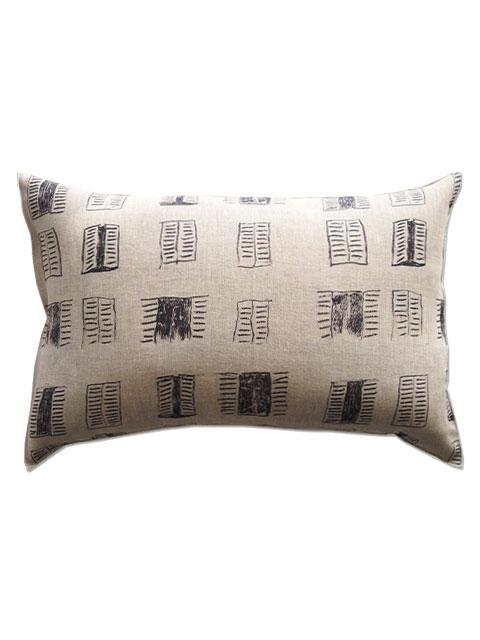 メゾン レヴィ Maison Levy リネンクッションカバー Cushion Cover Linen・FENETRE SUR COUR(W60xH40cm・カバーのみ)Type.B