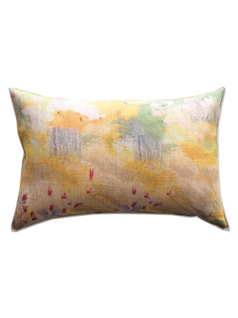 『SALE セール50%OFF』メゾン レヴィ Maison Levy リネンクッションカバー Cushion Cover Linen・JAUNE(W60xH40cm・カバーのみ)Type.A