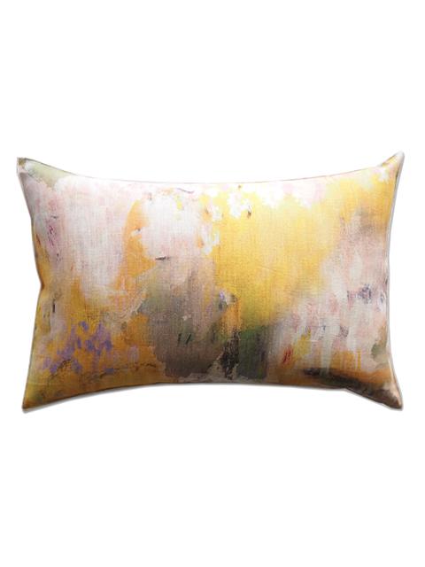 メゾン レヴィ Maison Levy リネンクッションカバー Cushion Cover Linen・JAUNE(W60xH40cm・カバーのみ)Type.B