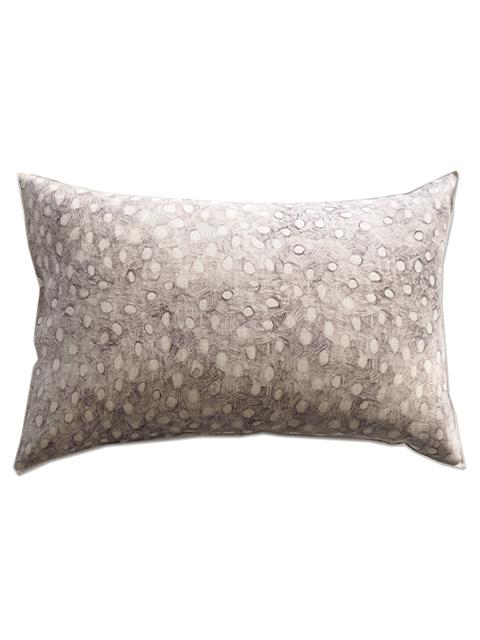 メゾン レヴィ Maison Levy リネンクッションカバー Cushion Cover Linen・POIS GRIS(W60xH40cm・カバーのみ)Type.A