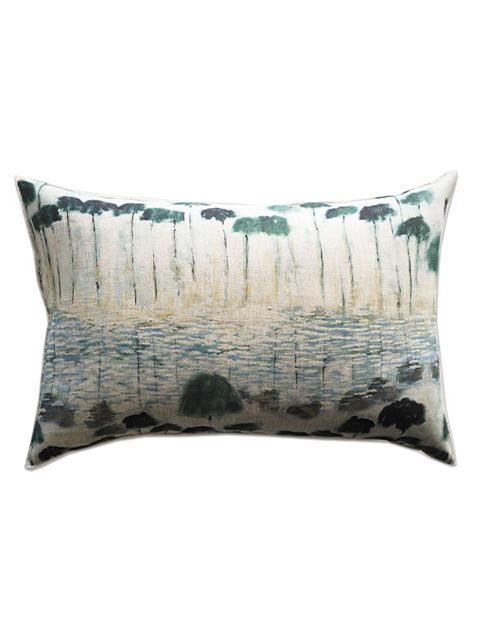メゾン レヴィ Maison Levy リネンクッションカバー Cushion Cover Linen・REFLEJOS AGUA(W60xH40cm・カバーのみ)Type.A