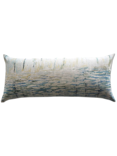 『SALE セール40%OFF』メゾン レヴィ Maison Levy リネンクッションカバー Cushion Cover Linen・AGUA(W70xH32cm・カバーのみ)