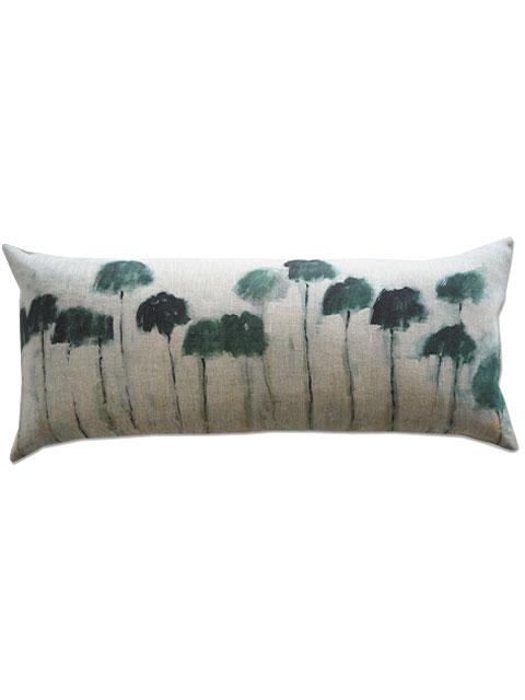 『SALE セール50%OFF』メゾン レヴィ Maison Levy リネンクッションカバー Cushion Cover Linen・REFLEJOS PALMIERS(W70xH32cm・カバーのみ)