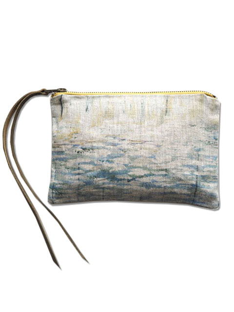 『SALE セール50%OFF』メゾン レヴィ Maison Levy ポーチ Zed Pouch・Agua(W21xH15cm)
