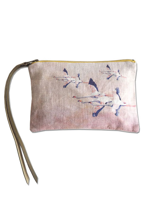 『SALE セール70%OFF』メゾン レヴィ Maison Levy ポーチ Zed Pouch・FLAMINGO ROSE(W21xH15cm)