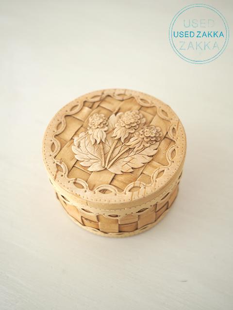 『USED ZAKKA』ロシア製 白樺樹皮 3つのお花のベレスタ