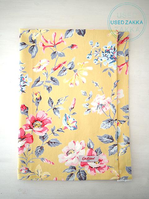『USED ZAKKA』Cath Kidston キャスキッドソン コットン製 Tea Towel ティータオル/Pembroke Rose Yellow