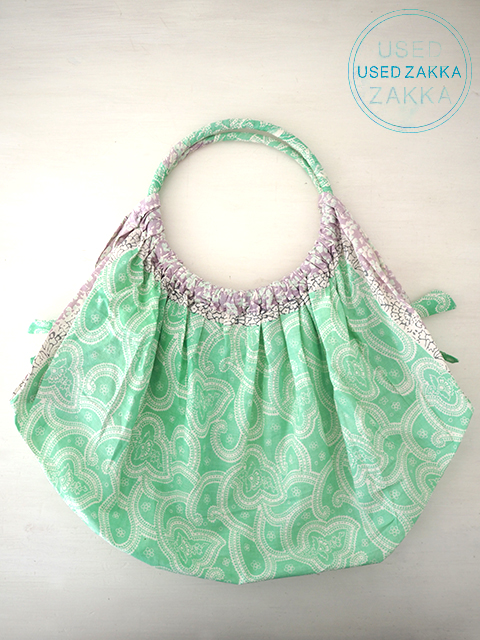 『USED ZAKKA』EPICE エピス コットン製 バッグ/Paisley Light Green