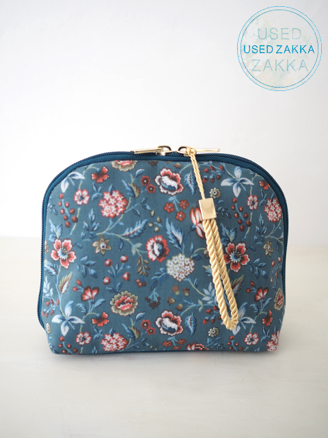 『USED ZAKKA』MILESTO Sweet escape Liberty リバティ プリント ポーチ/Massard Blue