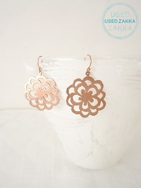 『USED ZAKKA』WENDY MINK ウェンディ ミンク  Eerrings ピアス/Drops/Copper x Flower