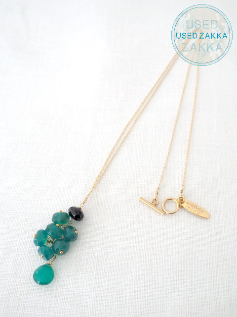 『USED ZAKKA』WENDY MINK ウェンディ ミンク Necklace 天然石ネックレス/Cluster/Black x Green Onyx