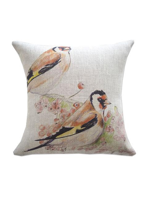 メゾン レヴィ Maison Levy リネンクッションカバー Cushion Cover Linen・ROMEO ET JULIET(W34xH34cm・カバーのみ)