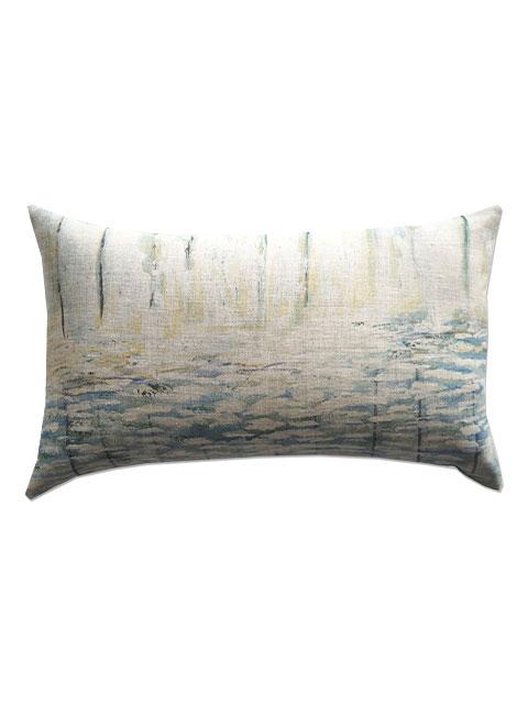 『SALE セール30%OFF』メゾン レヴィ Maison Levy リネンクッションカバー Cushion Cover Linen・AGUA(W50xH30cm・カバーのみ)