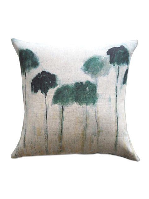 『SALE セール40%OFF』メゾン レヴィ Maison Levy リネンクッションカバー Cushion Cover Linen・REFLEJOS PALMIERS(W50xH50cm・カバーのみ)