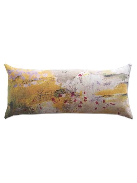 メゾン レヴィ Maison Levy リネンクッションカバー Cushion Cover Linen・JAUNE(W70xH32cm・カバーのみ)