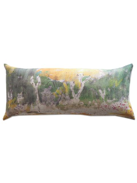 『SALE セール50%OFF』メゾン レヴィ Maison Levy リネンクッションカバー Cushion Cover Linen・LIT DE ROSES(W70xH32cm・カバーのみ)