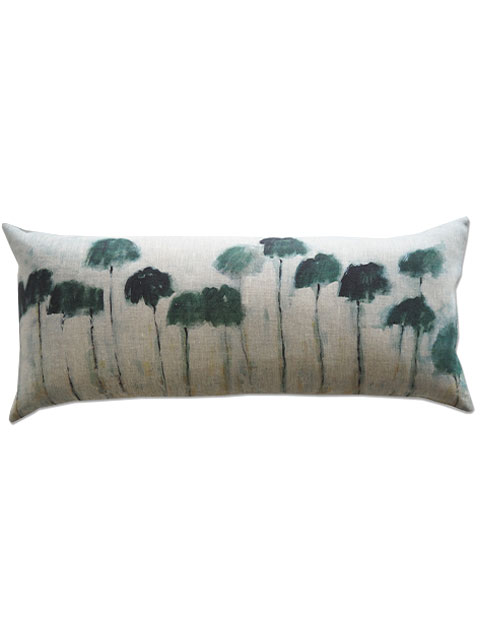 『SALE セール40%OFF』メゾン レヴィ Maison Levy リネンクッションカバー Cushion Cover Linen・REFLEJOS PALMIERS(W70xH32cm・カバーのみ)