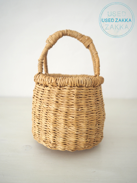 『USED ZAKKA』ブルキナファソ製 水草のハンドルミニバスケット