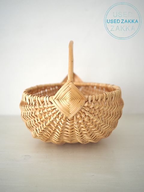 『USED ZAKKA』リトアニア製 柳細工のハンドルバスケット