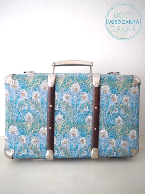 『USED ZAKKA』LIBERTY OF LONDON リバティ オブ ロンドン Mini Suitcase Trunk ミニスーツケース トランク/Peacock Feather