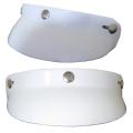 ザワキタ特価 3点ボタン式ヘルメットバイザー【ホワイト】 日よけ雨よけアクセントに最適!汎用品他社製品取付けOK!