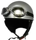 ZK-200 装飾ゴーグル付きビンテージ(シルバー) SG公認 125cc以下対応
