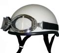 ZK-100 装飾ビンテージゴーグル付き ダックテール(ホワイト) SG公認 125cc以下対応 !