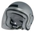 ZK-400 ジェットヘルメット(シルバー)  SG公認  全排気量対応 UVカット・ハードコートシールド&ベンチレータ