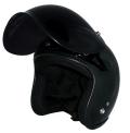 ZK-300(内装外して洗える!)スモールジェット(ブラック)+ダークスモークバブル+フリップアップ 3点セット