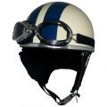 ZK-200 装飾ゴーグル付きビンテージ(アイボリー/ネイビー) SG公認 125cc以下対応