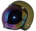 ZK-300(内装外して洗える!)スモールジェット(マットオリーブグリーン)+レインボーバブル   全排気量対応