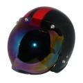 ZK-300(内装外して洗える!)スモールジェット(メタリックブラック/レッド)+レインボーバブル   全排気量対応