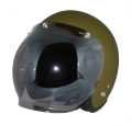 ZK-300(内装外して洗える!)スモールジェット(マットオリーブグリーン)+スモークミラーバブル   全排気量対応