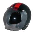 ZK-300(内装外して洗える!)スモールジェット(メタリックブラック/レッド)+スモークミラーバブル   全排気量対応